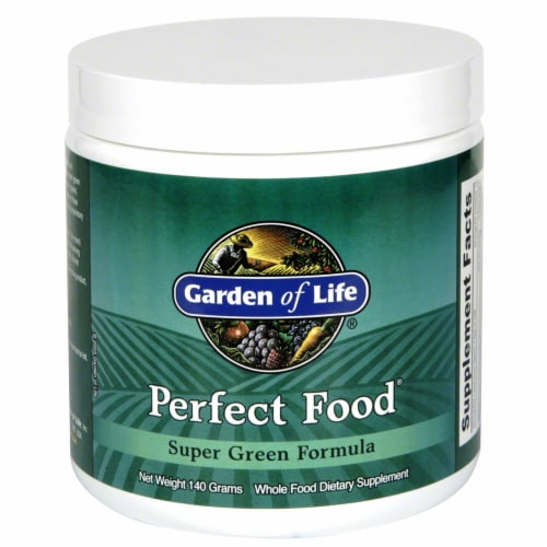 Garden of Life Perfect Food Super Green Formula Dietary Supplement Perspective: front