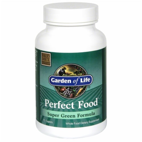 Garden of Life Perfect Food Dietary Supplement Caplets Perspective: front