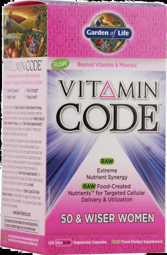 Garden of Life Code 50 & Wiser Women's Vitamins Vegetarian Capsules Perspective: front