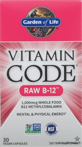 Garden of Life Vitamin Code Raw B-12 Vegan Capsules 1000mcg Perspective: front