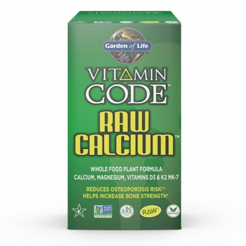 Garden of Life Vitamin Code Raw Calcium Capsules Perspective: front