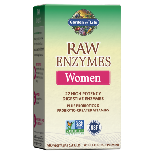 Garden Of Life Raw Enzymes Women Vegetarian Capsules Perspective: front