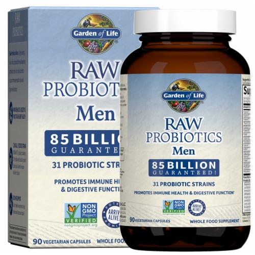 Garden of Life Men Raw Probiotics Vegetarian Capsules Perspective: front