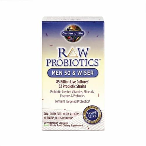 Garden of Life Raw Probiotics Man 50 & Wiser Vegetarian Capsules Perspective: front