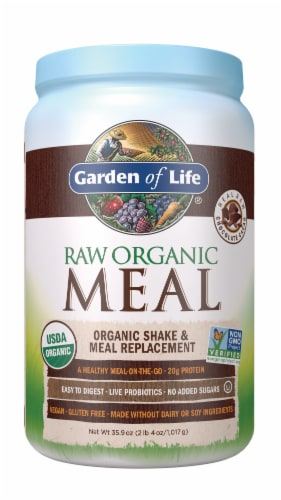Garden of Life Raw Meal Chocolate Cacao Meal Replacement Formula Perspective: front