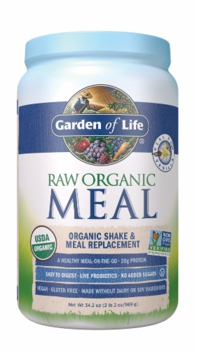 Garden of Life Vanilla Raw Meal Replacement Formula Perspective: front