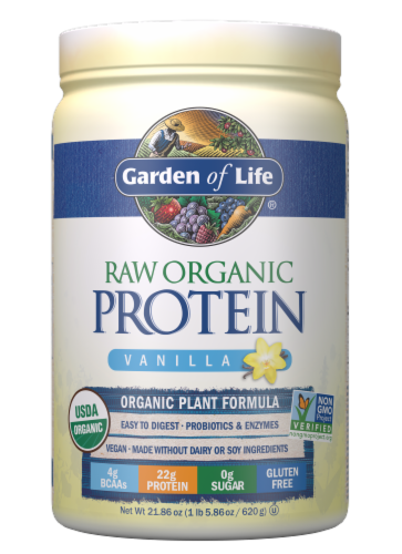 Garden of Life Beyond Organic Vanilla Protein Powder Perspective: front
