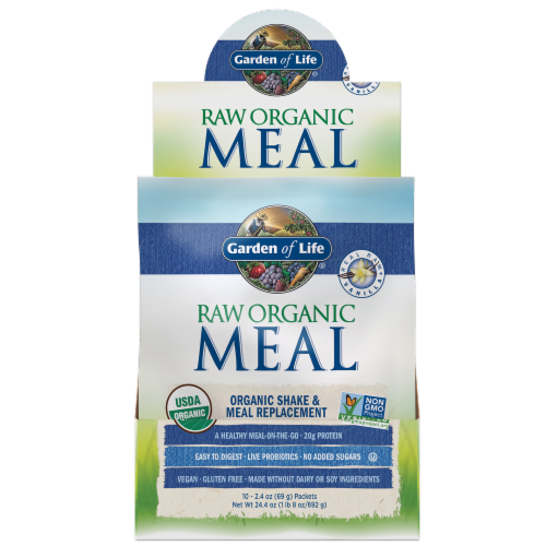 Garden of Life Vanilla Raw Meal Perspective: front