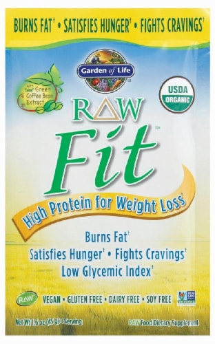 Garden of Life Raw Fit Weight Loss Protein Powder Perspective: front