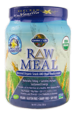 Garden of Life Organic Raw Meal Vanilla Meal Replacement Powder Perspective: front