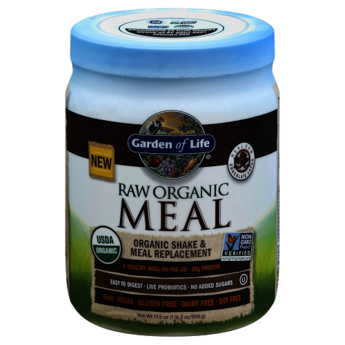 Garden of Life Organic Raw Meal Chocolate Cacao Meal Replacement Perspective: front