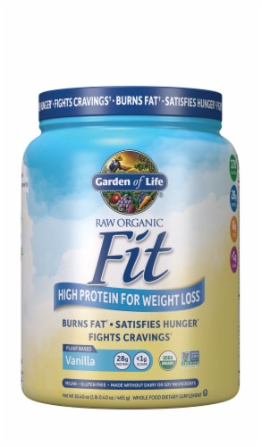 Garden of Life Raw Organic Fit Vanilla Protein Powder Perspective: front