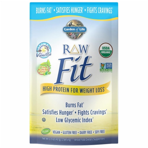 Garden of Life High Protein For Weight Loss Vanilla Powder Perspective: front