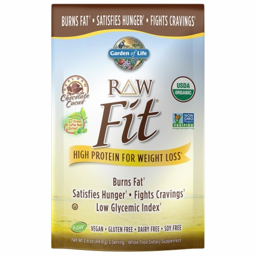 Garden of Life High Protein For Weight Loss Chocolate Powder Perspective: front