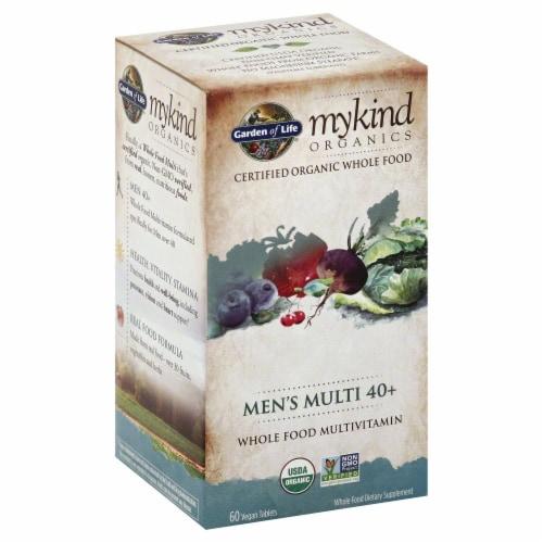 Garden of Life myKind Organics Men's Multi 40+ Vegan Tablets Perspective: front