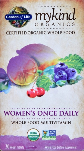 Garden of Life myKind Organics Women's Once Daily Multivitamin Vegan Tablets Perspective: front