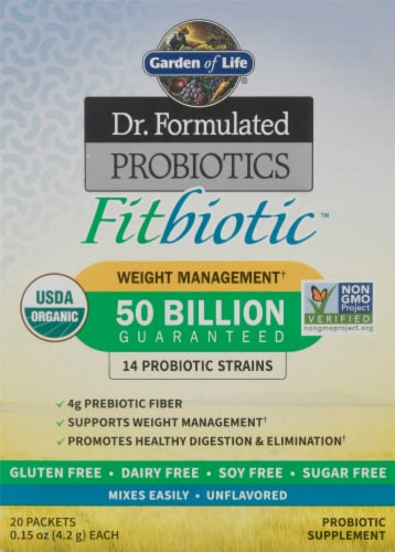 Garden of Life Dr. Formulated Organic Fitbiotic Weight Management Packets Perspective: front