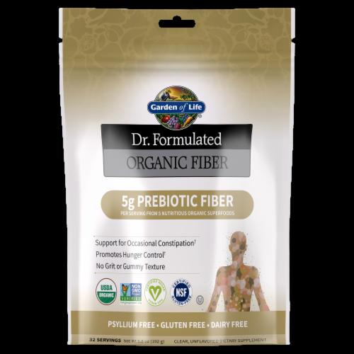 Garden of Life Dr Formulated Unflavored Fiber Powder Perspective: front