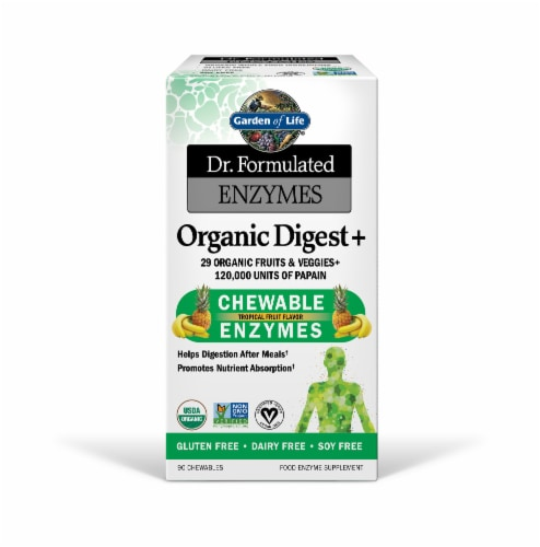 Garden of Life Dr Formulated Organic Digest + Enzymes Chewables Perspective: front