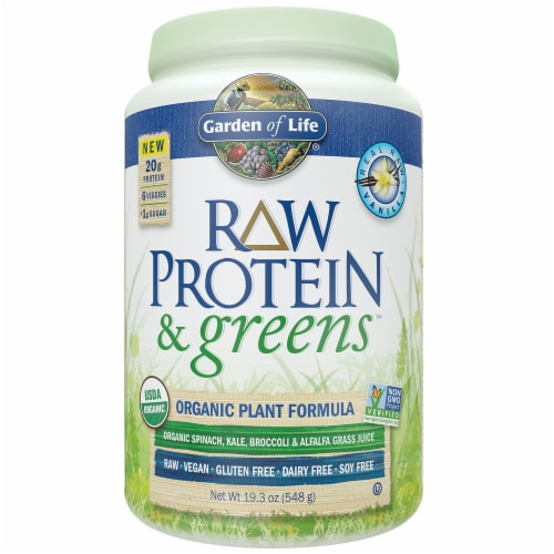Garden of Life Raw Protein & Greens Organic Plant Formula Perspective: front