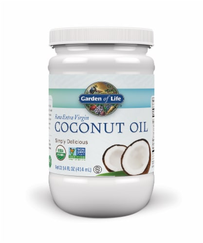 Garden of Life Raw Extra Virgin Coconut Oil Perspective: front