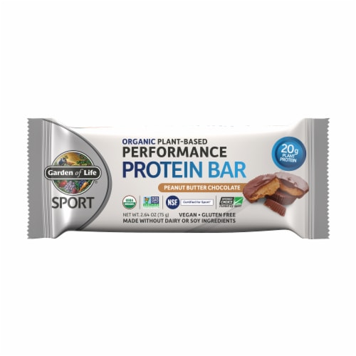 Garden of Life Sport Organic Peanut Butter Chocolate Performance Protein Bar Perspective: front