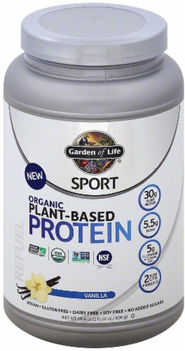 Garden of Life Vanilla Organic Plant Based Protein Perspective: front
