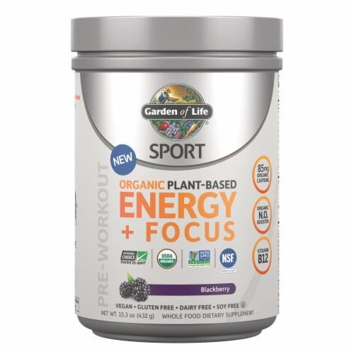 Garden of Life Sport Blackberry Organic Energy and Focus Perspective: front