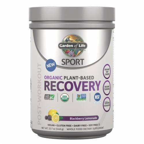 Garden of Life Sport Organic  Blackberry Lemonade Recovery Perspective: front