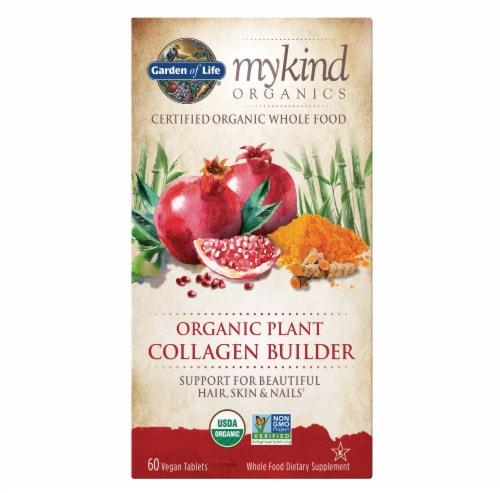 Garden of Life myKind Organics Plant Collagen Builder Vegan Tablets Perspective: front