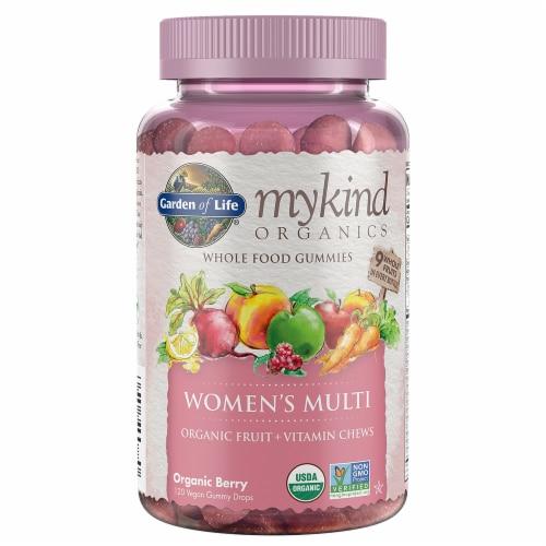 Garden of Life Organic Berry Women's Multi Vitamin Chews Perspective: front