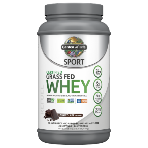 Garden of Life Sport Chocolate Grass Fed Whey Perspective: front