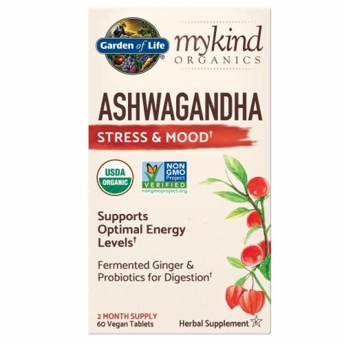 mykind Organics Ashwagandha Stress & Mood Herbal Supplement Perspective: front