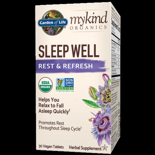 Garden of Life mykind Organics Sleep Well Rest & Refresh Vegan Tablets Perspective: front