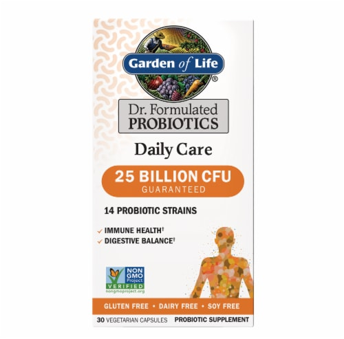 Garden of Life Dr. Formulated Daily Care Probiotic Capsules Perspective: front
