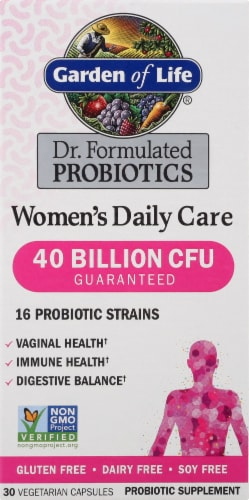 Garden Of Life Dr. Formulated Women's Daily Care Probiotic Capsules Perspective: front