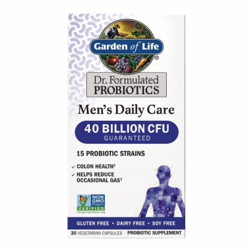 Garden Of Life Dr. Formulated Men's Daily Care Probiotic Capsules Perspective: front