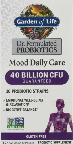 Garden of Life Dr. Formulated Probiotics Mood Daily Care Capsules Perspective: front