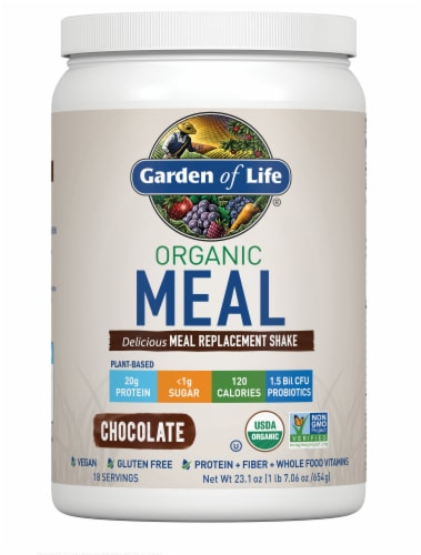 Garden of Life Chocolate Organic Meal Replacement Shake Perspective: front