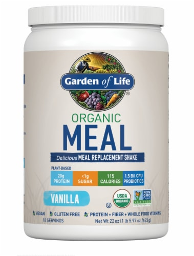 Garden of Life Organic Vanilla Meal Replacement Shake Perspective: front