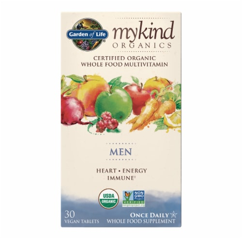 Garden of Life Mykind Organics Men Once Daily Multivitamin Perspective: front