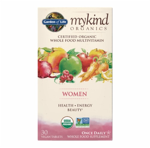 Garden of Life Mykind Organics Women Once Daily Multivitamin Tablets Perspective: front
