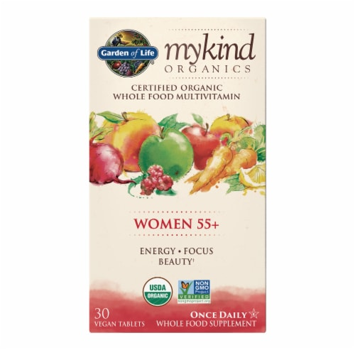 Garden of Life Mykind Organics Women 55 Plus Multivitamin Tablets Perspective: front