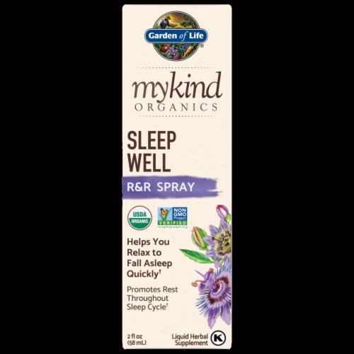 Garden of Life MyKind Organics Sleep Well R&R Spray Perspective: front