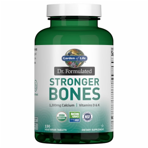 Garden of Life Organic Dr. Formulated Stronger Bones Dietary Supplement Vegetarian Tablets Perspective: front