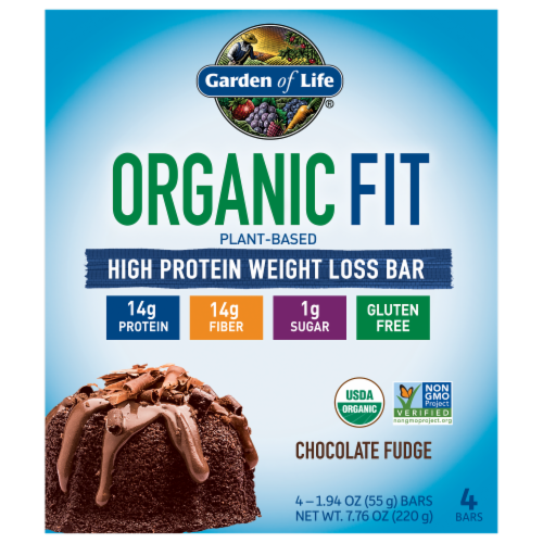 Garden of Life Organic Fit Chocolate Fudge Bars Perspective: front