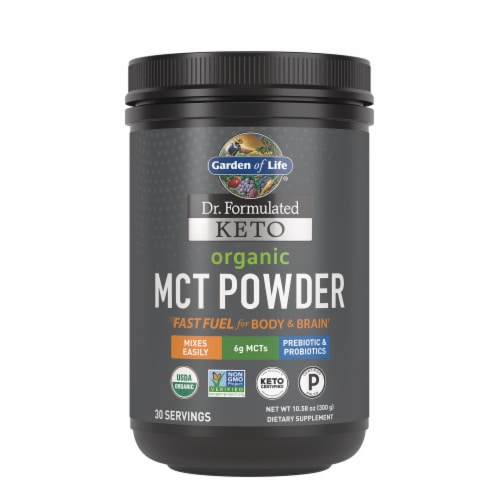 Garden of Life Dr Formulated Organic Vanilla Keto Powder Perspective: front