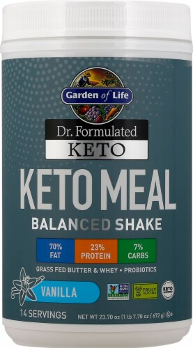 Garden of Life Dr Formulated Vanilla Keto Meal Perspective: front