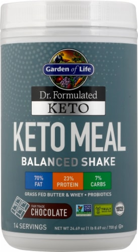 Garden of Life Dr Formulated Chocolate Keto Meal Perspective: front