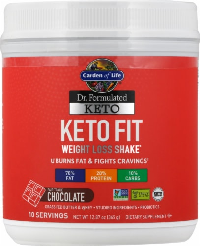 Garden of Life Dr Formulated Chocolate Keto Fit Perspective: front
